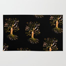 Whimsical Tree Pattern Rug