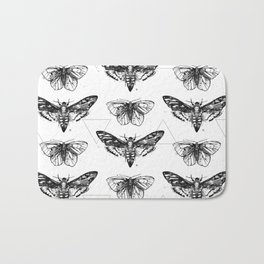 Geometric Moths Bath Mat