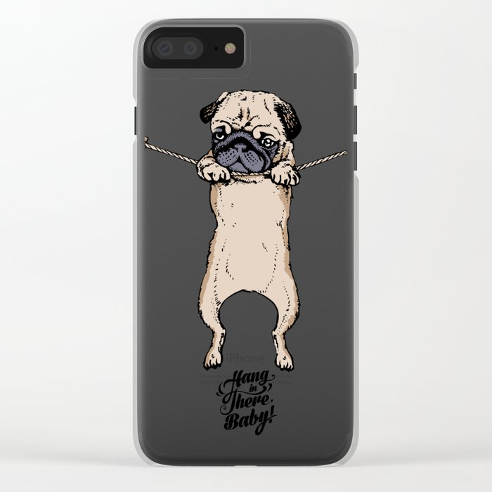 Hang in There Baby Clear iPhone Case