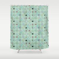 digimon Shower Curtains featuring Nade Nade by Kiriska