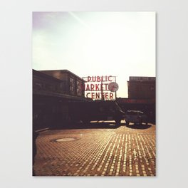 Pike Place Market @ Seattle, Washington Canvas Print