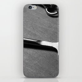 Old key and chain iPhone Skin