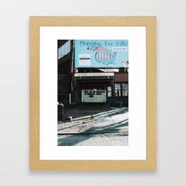 Advice from an old town. Framed Art Print