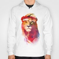 gym Hoodies featuring Gym Lion by Robert Farkas
