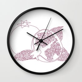 Pomegranate Outline Wall Clock