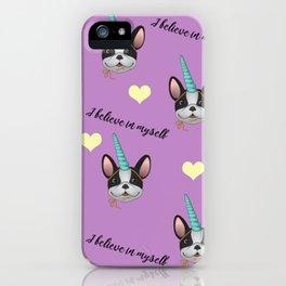 French Bulldog Unicorn iPhone Case