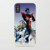 nightcrawler iPhone & iPod Cases featuring Angel & Demon by Apoken