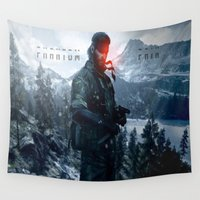 pain Wall Tapestries featuring PHANTOM PAIN by Acus