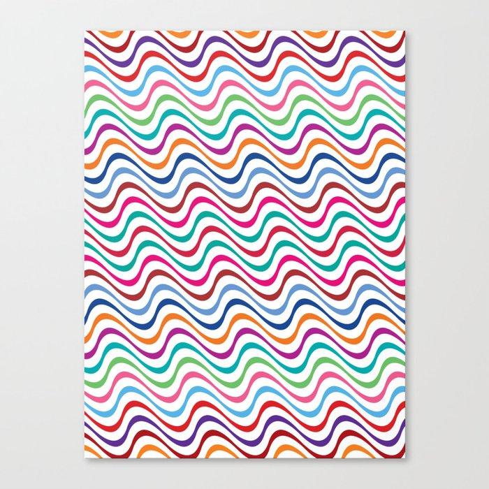 Rippling Colors Canvas Print