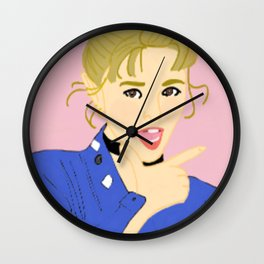 Knock Knock! Jungyeon Pink Wall Clock