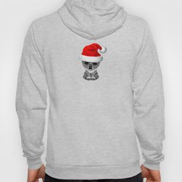 Christmas Koala Wearing a Santa Hat Hoody