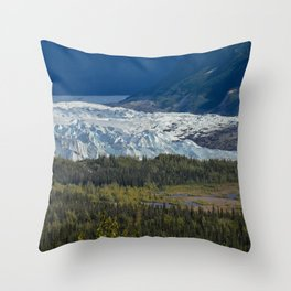 Matanuska Glacier, Alaska - Summer Throw Pillow