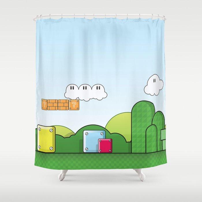 World Of Mario Shower Curtain