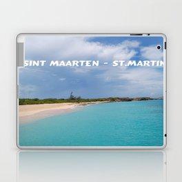Tropical sandy beach of Sint Maarten - St. Martin Laptop & iPad Skin