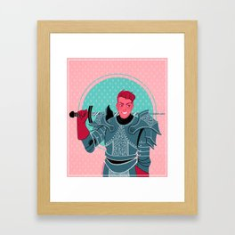 Lieutenant of the Bull's Chargers Framed Art Print
