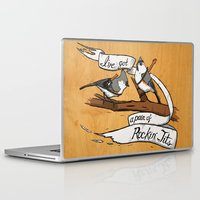 tits Laptop & iPad Skins featuring Rockin' Tits by Alex Groh