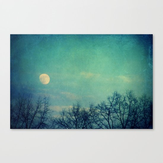 Ice Moon Canvas Print