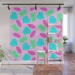 Bright Tropical Leaves Wall Mural