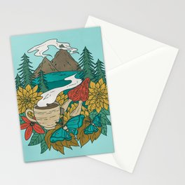 Pacific Northwest Coffee and Nature Stationery Cards