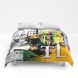 I LOVE TLV Comforters