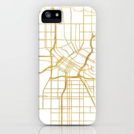MINNEAPOLIS MINNESOTA CITY STREET MAP ART iPhone Case