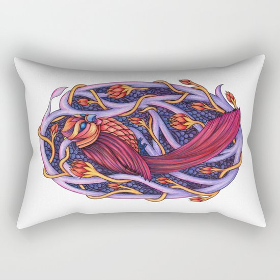 Red Sky Omen Rectangular Pillow