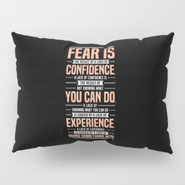 Lab No. 4 Fear Is The Result Dale Carnegie Inspirational Quotes Pillow Sham