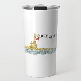 Love Runs Deep - Submarine Art Travel Mug