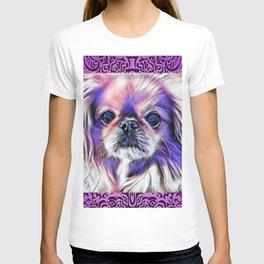 Peak in purple T-shirt