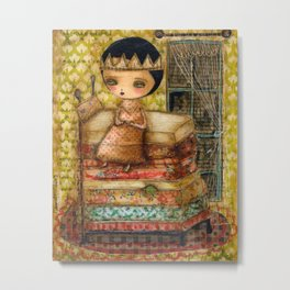 Sleepless Nights With The Princess And The Pea Metal Print