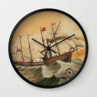 western Wall Clocks featuring Great Western by skot olsen