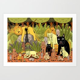 Death of the King Art Print
