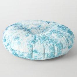 Sea ocean storm waves Floor Pillow