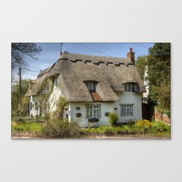 Thatched cottage,in Finchingfield ,Essex,UK Canvas Print