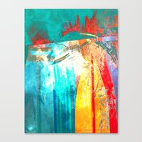 surfing Canvas Prints featuring Surfing by Fernando Vieira