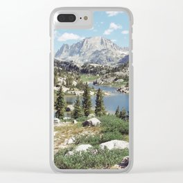 Wyoming Summer Clear iPhone Case
