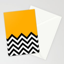 Chevron mix up color concept Stationery Cards
