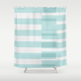 Big Stripes In Turquoise Shower Curtain