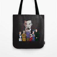 scandal Tote Bags featuring SHERLOCK: A Scandal in... Cluedo by Jess P.
