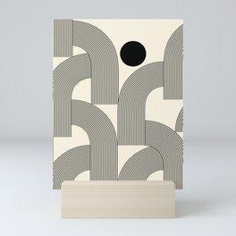 Abstraction_SUNLIGHT_SUNSHINE_LINE_POP_ART_Minimalism_001A Mini Art Print