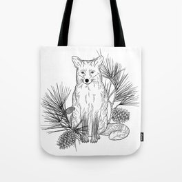 Silent Paws on a Bed of Pine Tote Bag