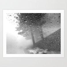 rain and fog Art Print