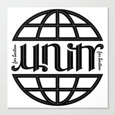 Unity Ambigram for Boston Canvas Print
