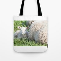 lamb Tote Bags featuring lamb by Marcel Derweduwen