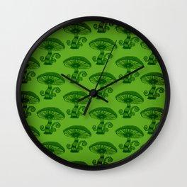 """Mushrooms in the Garden"" Wonderland Style Design by Dark Decors Wall Clock"