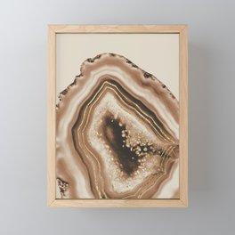 Soft Brown Agate Gold Foil Glam #1 #gem #decor #art #society6 Framed Mini Art Print