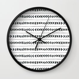 Laurel stripe - back and forth Wall Clock