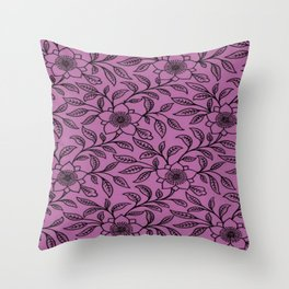 Vintage Lace Floral Bodacious Throw Pillow