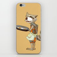 rocket raccoon iPhone & iPod Skins featuring Rocket Raccoon by Negative Dragon