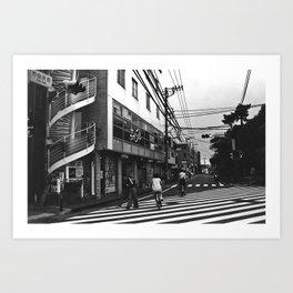 Streets of Kamakura Art Print